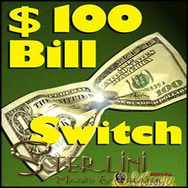 $100 Bill Switch - Booklet & Gimmick